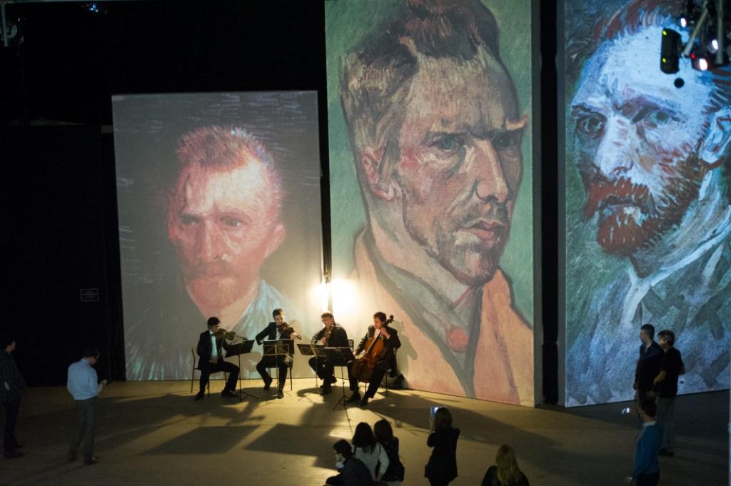 Струнный квартет Паганини - Окрытие выставки Ван Гог Ожившие полотна.
