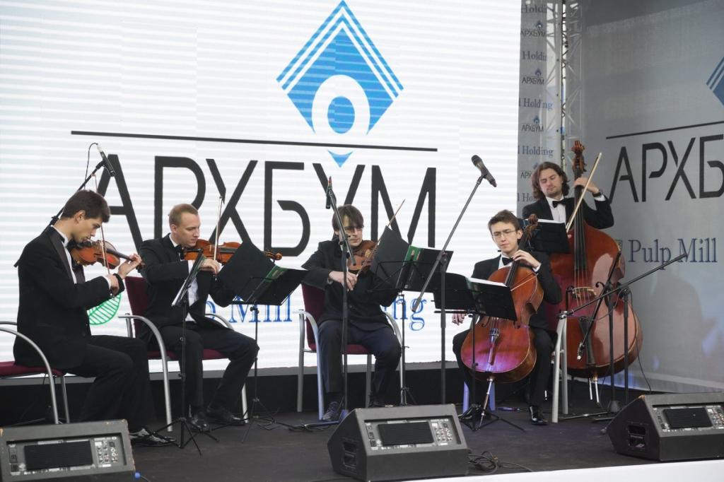 Струнный квартет Паганини - 2013-09-20 Открытие филиала ОАО Архбум в Истре