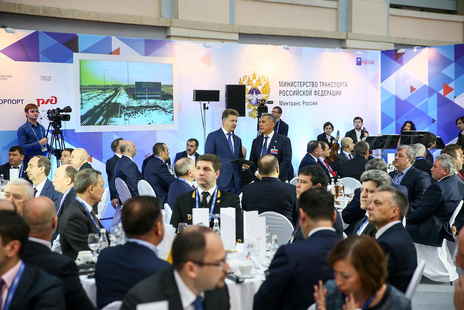 IX Международный форум Транспорт России Деловой завтрак министра транспорта РФ